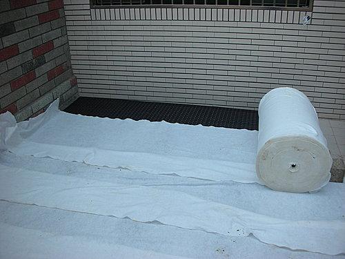 排水板施工之铺设无纺布,按图操作,一目了然