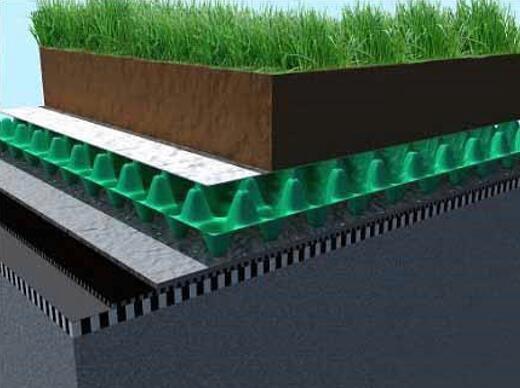 用屋顶绿化排水板设计屋顶绿化结构图,直观了解屋顶绿化方法