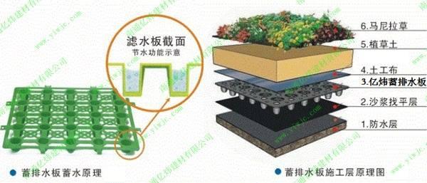 蓄排水板施工层原理图