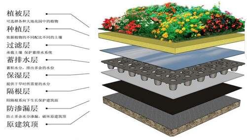 蓄排水板施工流程图