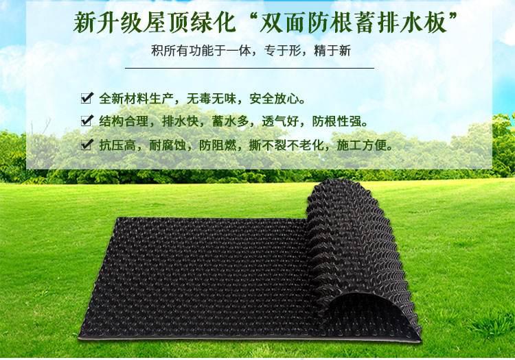 楼顶(屋顶)排水板功能介绍图