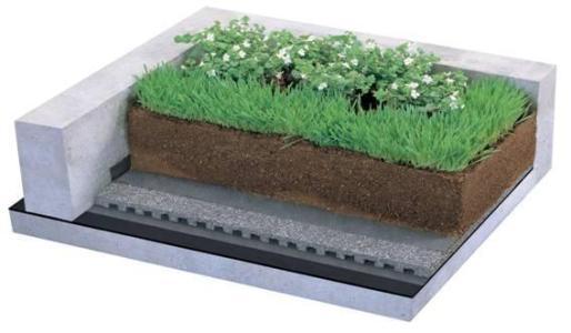 绿化排水板模型图