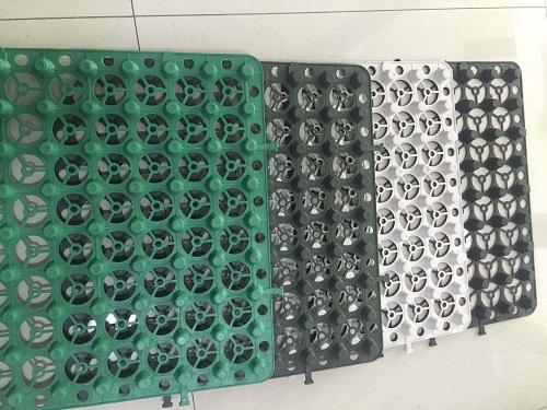 各种价格的蓄排水板展示