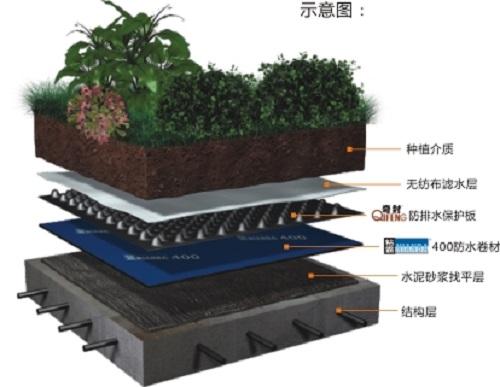 塑料排水板保护防水层的原理图