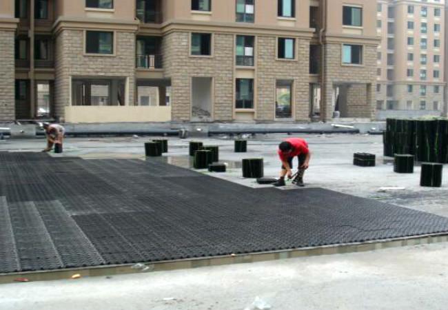 排水板施工现场