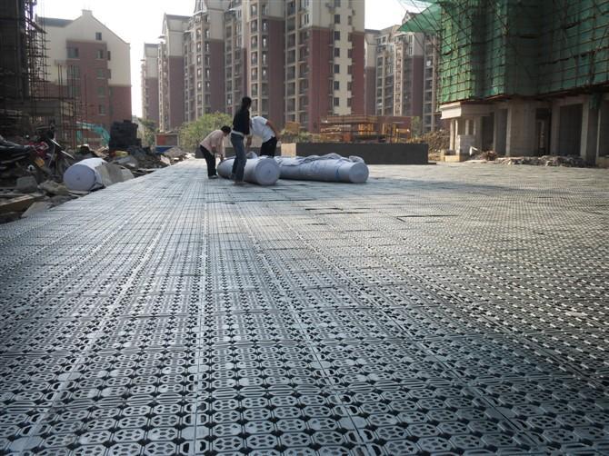 绿化蓄排水板施工展示