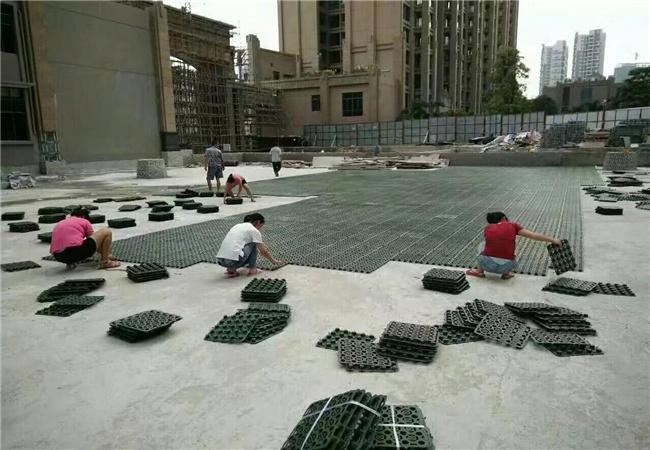 排水板厂家直销大量产品施工中图